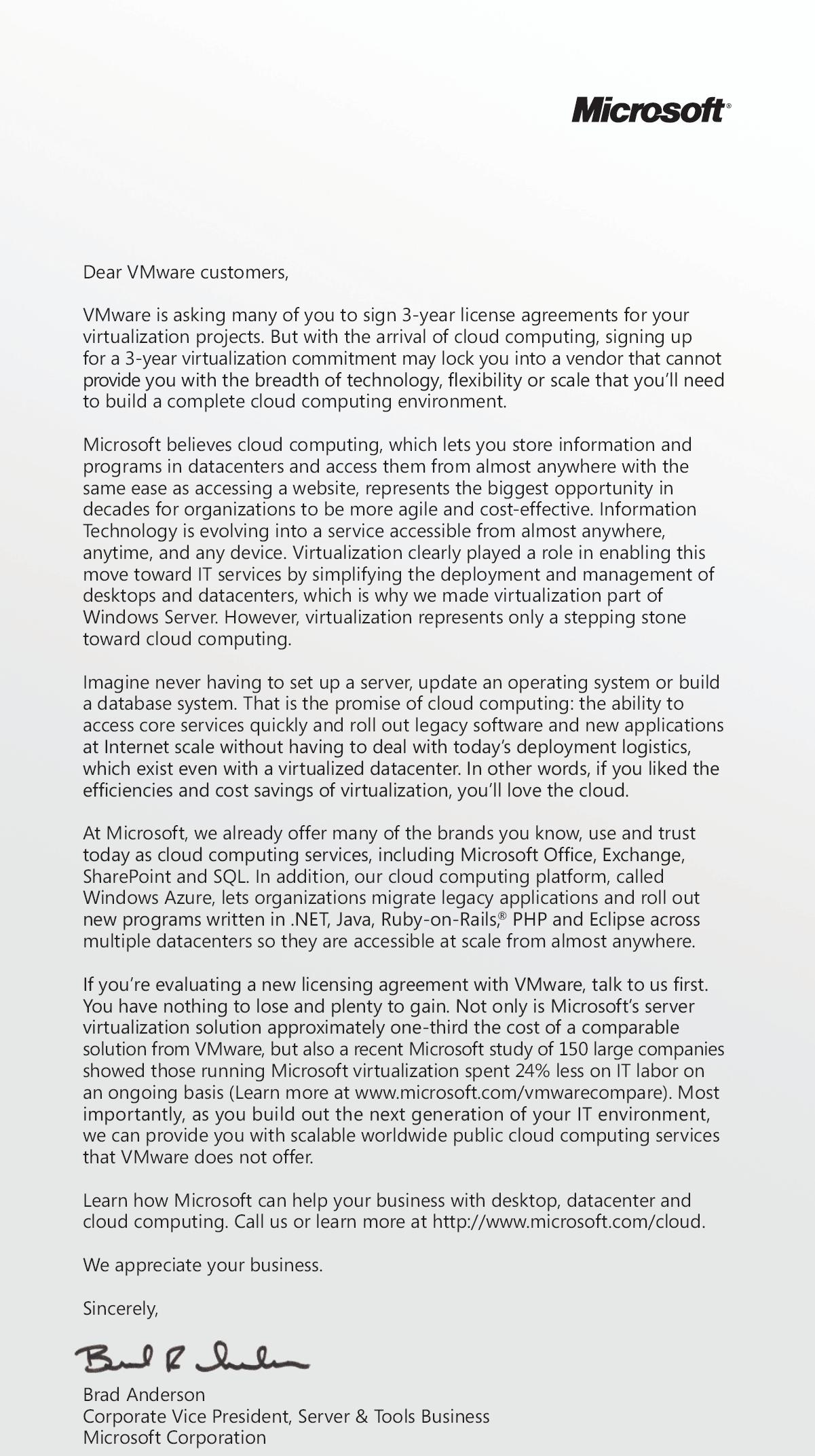 microsoft s usa today ad on virtualization pricing the right