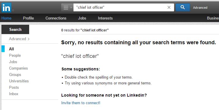 IoT officer not in LinkedIn