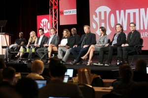 Don Cheadle and I bookend the cast and creators of House of Lies.