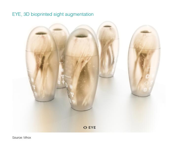EYE, 3D bioprinted sight augmentation