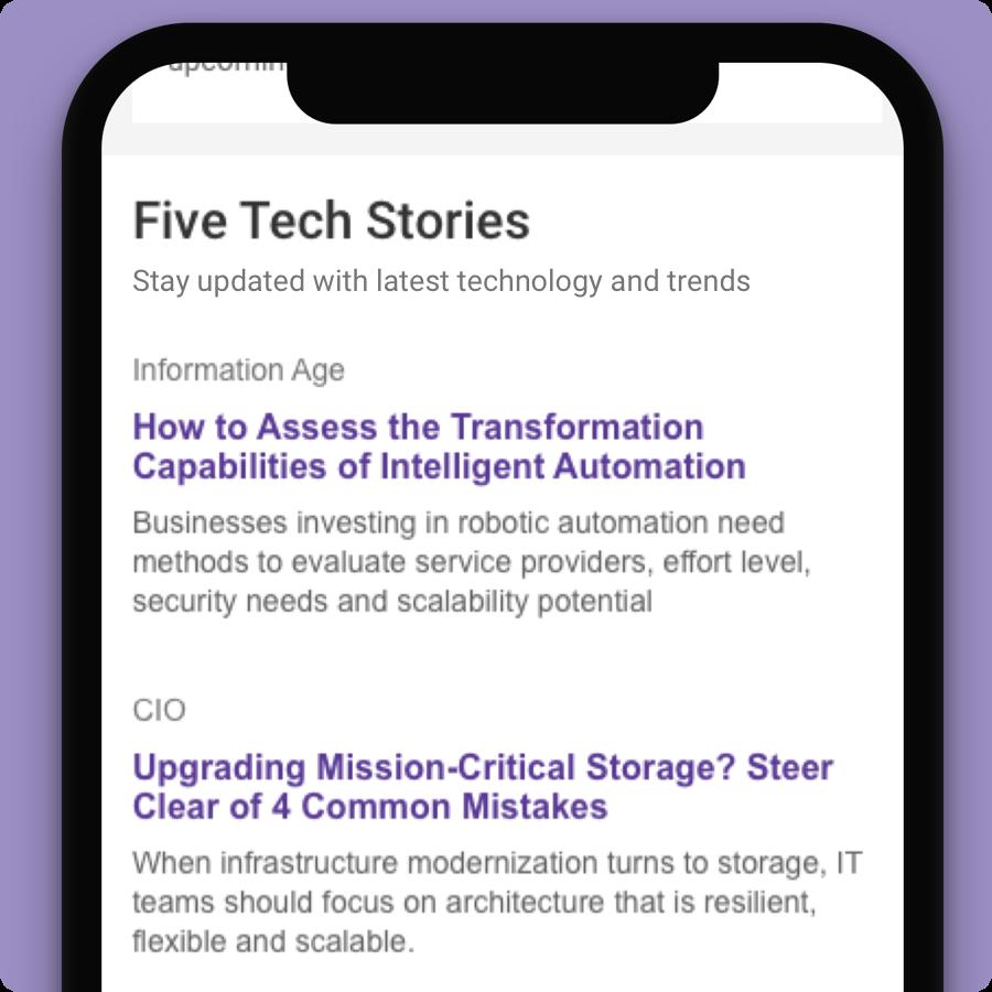 Latest tech stories