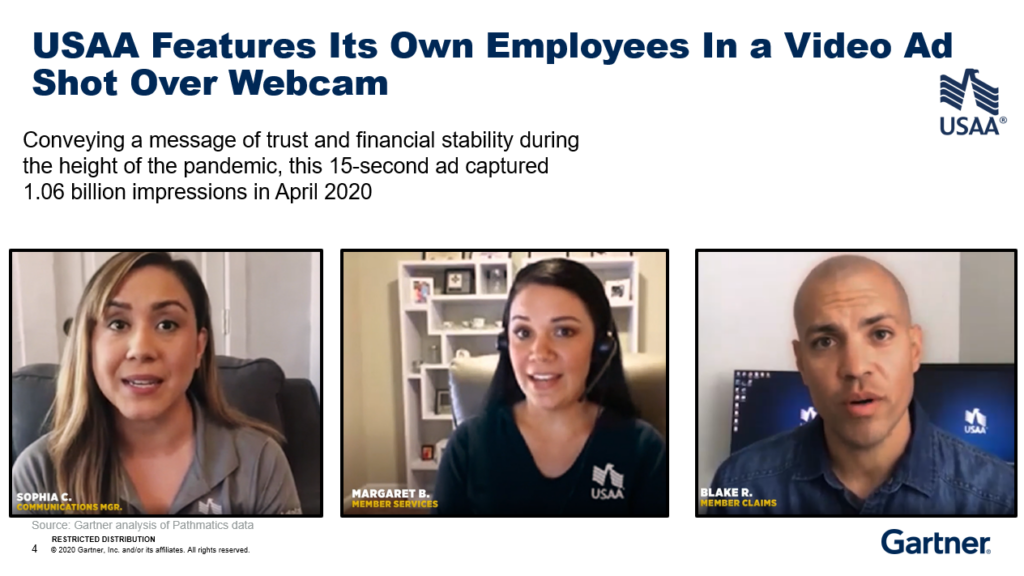 USAA Features Its Own Employees In a Video Ad Shot Over Webcam