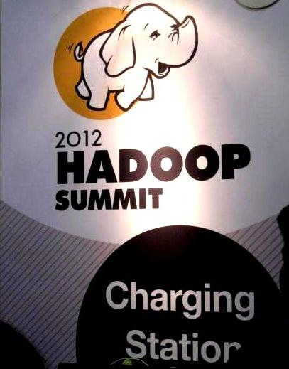 At the last year's Hadoop Summit, I took this picture of the baby elephant, and I'm happy to report — it is charging now.