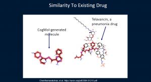 AI-generated molecule similar to existing drug
