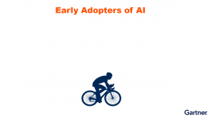 Early adopters were like bicyclists: Data scientists put a lot of effort to get to the destination – delivering value to their companies.