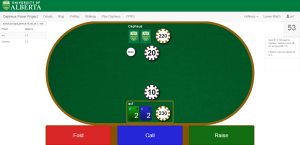 """Cepheus' """"Preflop"""" (first round) bet strategy. Image source: http://poker.srv.ualberta.ca/; Used with permission."""