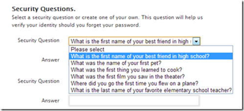 how to change security questions on cra