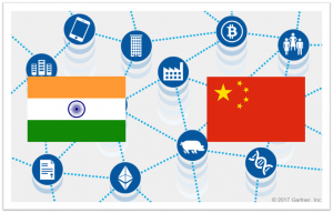 blockchain china india