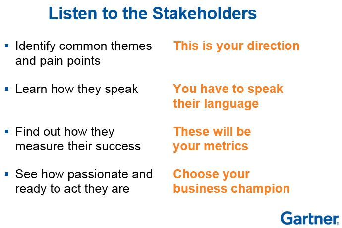Talk to the stakeholders when starting data governance